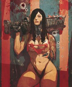 Aside from being a huge Frazetta fan, I'm also a fan of Bisley's works, especially his take on Heavy Metal's F.A.K.K.2, those pieces really ...