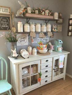 Really Cute Kitchen Nook Farmhouse Decor! Really Cute Kitchen Nook Farmhouse Decor! Coffee Bar Home, Farmhouse Decor, Rustic House, Decor, Bars For Home, Home Kitchens, Home Diy, Farmhouse Kitchen Decor, Home Decor