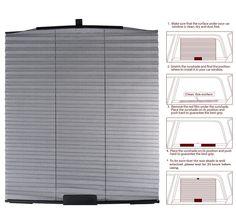 Amazon.com: Car Folding Window Sun Shades - X-Shade Car Sunshades - Car Window Blinds - Car Side Window Folding Curtain - Sun Shade Sunblock - Car Shade Cars - 1 Piece: Automotive