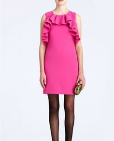 Make sure your frills stand out in this hot pink mini by DVF.  Dress, Diane von Furstenberg