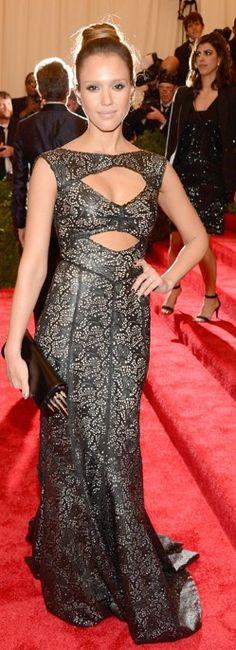 Best Dressed at the 2013 Met Gala – Jessica Alba in Tory Burch