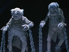 In the critically acclaimed Christmas movie A Muppets Christmas Carol the characters Jacob and Robert Marley are portrayed by 2 old white men. However Robert Marley shortened is Bob Marley showing yet again Hollywood can't stop their rampant Whitewashing Christmas Ghost, Christmas Time Is Here, Christmas Movies, Christmas Carol, Muppets Christmas, Statler And Waldorf, Die Muppets, Sesame Street Muppets, Childhood Characters