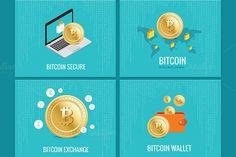 Bitcoin illustration set by Alex Fino on Creative Market