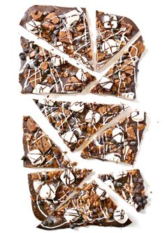 S'Mores Chocolate Bark- An allergen-friendly campfire treat made with Enjoy Life chocolate chips!