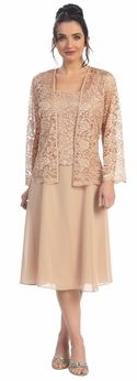 Mother of Bride Dresses With Jacket Cheap Plus Size Mother Dresses