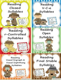 This bundle contains six units that give specific word examples of each syllable word type. The six syllable types of reading are Closed, V-C-e, Open, r-Controlled, Vowel Digraph & Diphthong, and Final Stable. Each unit provides a plethora of word lists that target each syllable type. The basic overall purpose of learning syllable type reading is to give students 6 reading strategies to aid them in chunking longer words into short, readable parts