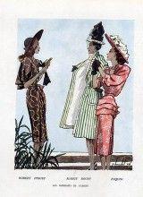Robert Piguet Maggy Rouff Paquin 1946 Fashion Illustration Pierre Louchel