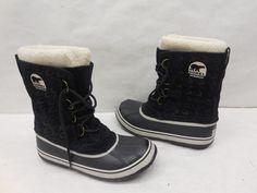 New Sorel 1641261010 Houndstooth Suede Waterproof Mid Calf Snow Boots Shoes 9.5 #SOREL #SnowWinterBoots #Casual