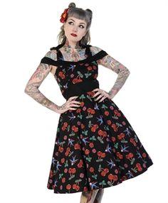 5288e3890685 Banned Cherry Skull 50 s Dress - Banned Alternative Wear - Rockabilly  Dresses Abiti Pin Up