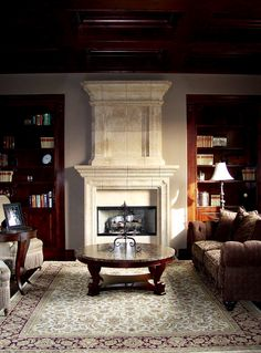 Hand Crafted Custom Fireplaces, Custom Surrounds, Kitchen Hoods and more by Award Winning Realm of Design.- Realm of Design Home, Custom Homes, Custom Fireplace, Stone Architecture, Custom Home Builders, Architectural Elements, Building A House, Fireplace Surrounds, Green Living