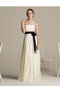 Strapless Sheath/Column Chiffon Bridesmaid Dresses With Ruffles