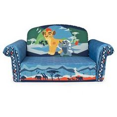 Disney Junior The Lion Guard Childrens Upholstered Flip Open Sofa Kids Room Seating Playroom Furniture Toddler Home Birthday Gift Xmas
