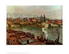 Stone Bridge Rouen by Camille Pissarro