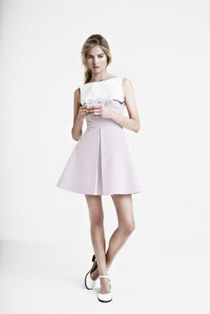White + Pastel Pink Dress from Georgia Hardinge's SS14 Fashion Collection