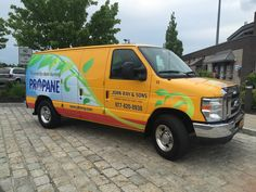 John Ray & Sons' service vans are fueled by clean, green propane autogas.