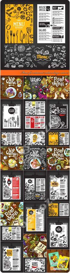 Menu for restaurant modern design vector 14