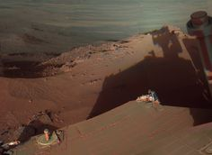 Mars Rover Opportunity Captures Its Shadow