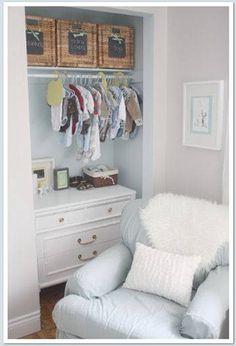 Beautifully designed nursery closet