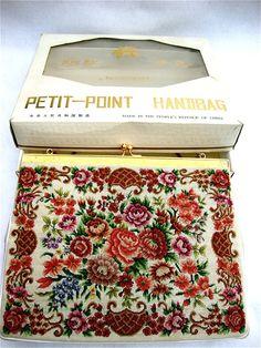 on sale vintage Petit Point Handbag by Peligraphics on Etsy