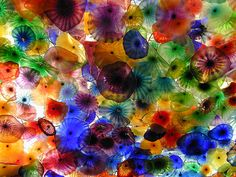 Fascinated by the Chihuly ceiling at the Las Vegas Bellagio.