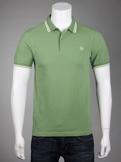 5b764245 Fred Perry Slim Fit Mens Polo Shirt in Sprayedwash English Ivy. If you  enjoy wearing