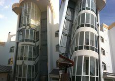 antes y después de fachada rehabilitada  por ac reformas en palma de mallorca.