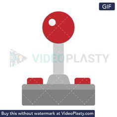 GIF icon animation of a classic joystick