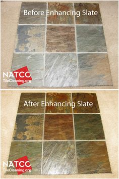 Enhancing the colors of slate tiles and giving the slate a wet look