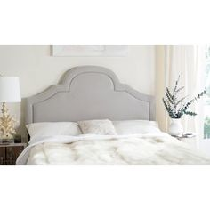 Shop for Safavieh Kerstin Arctic Grey Arched Headboard (King). Get free delivery…