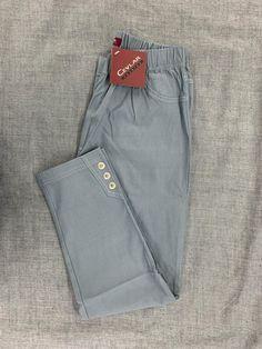 Spodnie z bengaliny Cevlar B03 kolor ciemny gołąb - Big Sister
