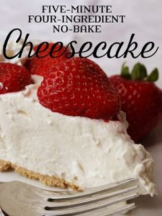 Prepare this delicious (and beautiful!) cheesecake in minutes with a pre-made graham cracker pie crust.