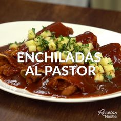 Enchiladas al pastor Pork Recipes, Mexican Food Recipes, Cooking Recipes, Healthy Recipes, Cooking Okra, Cooking Broccoli, Oven Cooking, Bien Tasty, Deli Food