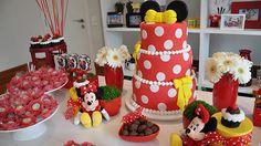 Aposte na Minnie como tema de festa bem delicada