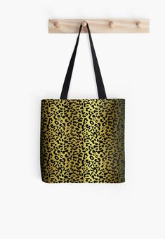 'Gold and black metallic leopard spots, animal fur print' Tote Bag by cool-shirts Spotted Animals, Samsung Galaxy Cases, Iphone Cases, Animal Fur, Leopard Spots, Weekender Tote, Leopard Pattern, Printed Tote Bags, Cool Shirts