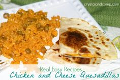 Real Easy Recipes: Chicken and Cheese Quesadillas Minute Meals) Superbowl Food Easy Chicken Recipes, Easy Dinner Recipes, Easy Recipes, Cooking Recipes, Chicken Meals, Dinner Ideas, Amazing Recipes, Lunch Ideas, Party Dishes