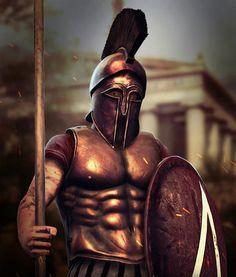 Spartans the ultimate military badasses. Greek Mythology Tattoos, Greek And Roman Mythology, Greek Gods, Greek History, Roman History, Greek Warrior, Fantasy Warrior, Ancient Art, Ancient History