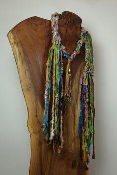 """Gypsy Dancer"" Hand spun Art Scarf"