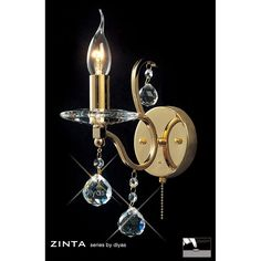 Diyas Zinta Single Wall Light - W. Crystal Wall, Sconces, Wall Lights, Crystals, Lighting, Home Decor, Chandeliers, Appliques, Decoration Home