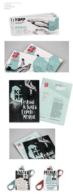 KORP. Festival de Danza Experimental - Parte I by Julia Moscardini, via Behance