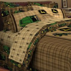 John Deere® Tractor and Plaid Comforter & Accessories - JCPenney