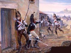Tropas francesas combatem em solo português.