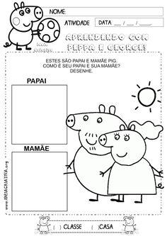 Atividade Identidade Família Peppa Pig   Ideia Criativa - Gi Barbosa Educação Infantil
