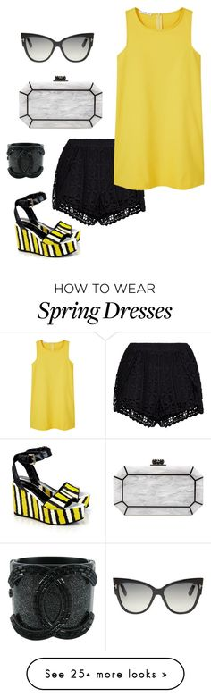 """Senza titolo #1043"" by granatina on Polyvore featuring New Look, Edie Parker, Just Cavalli, Chanel, MANGO and Tom Ford"