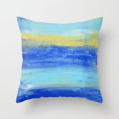 Relaxing Beach Aqua Turquiose Nautical Abstract Art Throw Pillow by art-by-lang - Cover x with pillow insert - Indoor Nautical Pillows, Pillow Design, Pillow Inserts, Buy Art, Abstract Art, Aqua, Throw Pillows, Beach, Pond