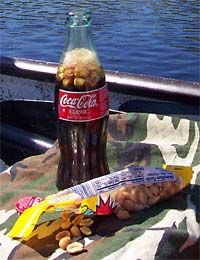 Coke & peanuts -- and a small bottle of Coke was 6 cents back then.