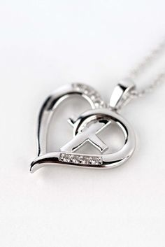 Elegant Cross & Heart Faith Necklace