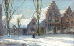 IJpe Heerke 'Ype' Wenning, Leeuwarden 1879-1959 Wassenaar, Franeker in de sneeuw
