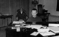 Arturo Benedetti Michelangeli + unidentified man wearing sunglasses