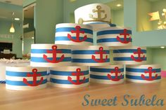 Fiesta Marinera Sailor Party, Sailor Theme, Nautical Mickey, Nautical Party, Cruise Theme Parties, Party Themes, Leo Birthday, 1st Birthday Parties, Mickey Mouse Baby Shower