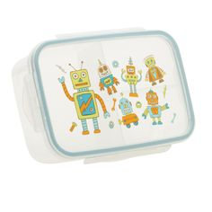 Divided 3 compartment lunch container keeps food separated, Kid-friendly, easy-open lid. Good Lunch® Boxes eliminate the need for plastic bags and keeps food. Boys Lunch Boxes, Lunch Box Set, Bento Box Lunch, Lunch Containers, Storage Containers, Unique Gifts For Kids, Baby Food Storage, Retro Robot, Jars